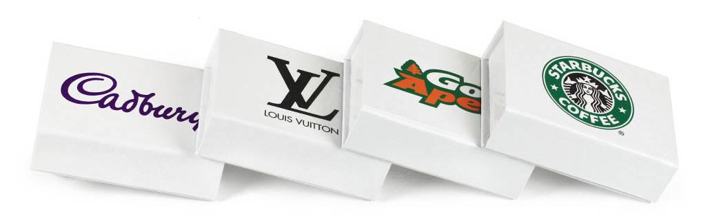 Mini White Flip Box bedruckt mit Ihrem Logo