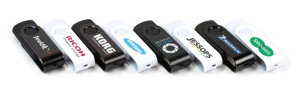 Twister Mono USB Stick bedruckt oder graviert mit Ihrem Logo
