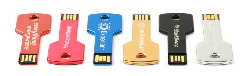 Key Engraved USB Stick graviert mit Ihrem Logo
