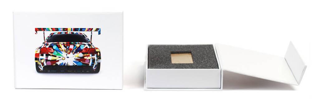 White Flip Box bedruckt mit Ihrem Logo