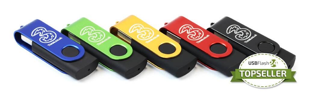 Engraved Twister USB Stick graviert mit Ihrem Logo