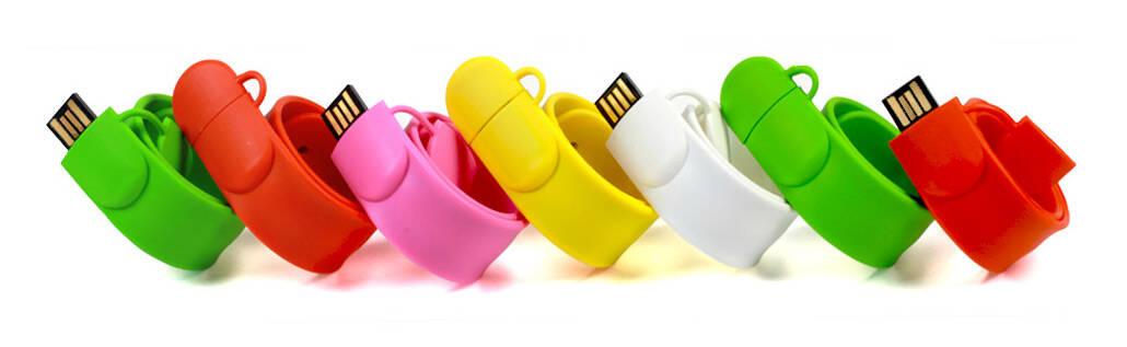 Snapband USB Stick bedruckt mit Ihrem Logo